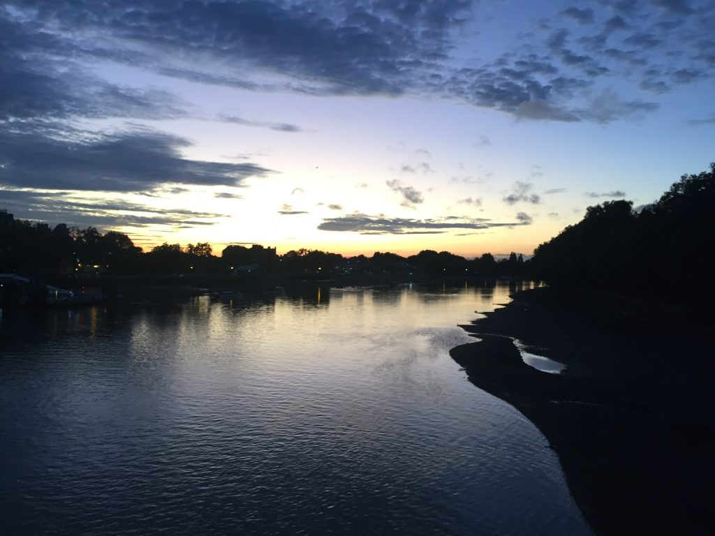 View of Bishops Park taken from Putney Bridge at sunset, credit Alex Gee